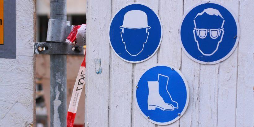 Unfallverhütung und Arbeitsvorschriften
